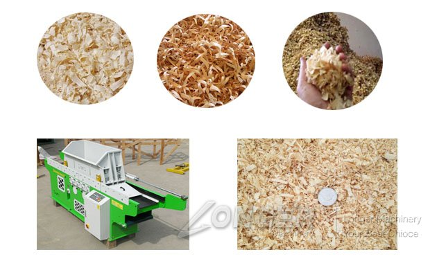 log shavings machine