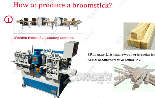 broom stick making machine
