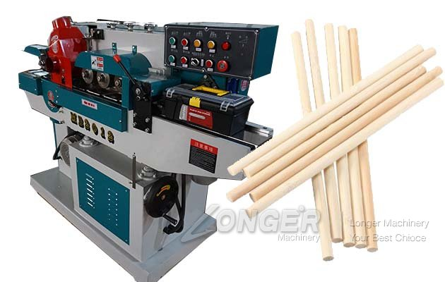 wooden round stick broom handle machine